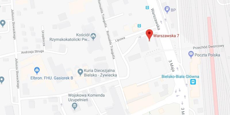 Bielsko-Biała ul. Warszawska 7 (Dworzec PKS - dolny hol)